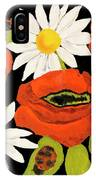 Poppies And Camomiles, Oil Painting IPhone Case