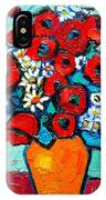 Poppies And Daisies Bouquet IPhone Case