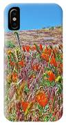 Poppies And Fiddleneck In Antelope Valley Ca Poppy Reserve IPhone Case