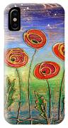 Poppies At Night IPhone Case