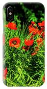 Poppies Flowerbed IPhone Case