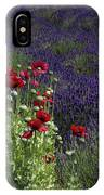 Poppies In Lavender IPhone Case