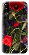 Poppies In The Corn IPhone Case