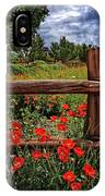Poppies In The Texas Hill Country IPhone Case
