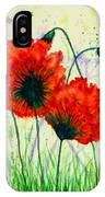 Poppies In The Wild IPhone Case