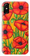 Poppies Under The Tuscan Sun IPhone Case