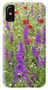 Poppy And Wild Flowers Meadow Nature Scene IPhone Case