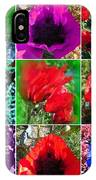 Poppy Collage IPhone Case