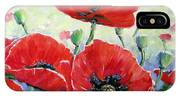 Poppy Love Floral Scene IPhone Case