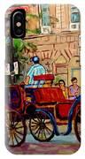 Popular Quebec Artists Carole Spandau Painter Of Scenes De Rue Montreal Street Scenes IPhone Case