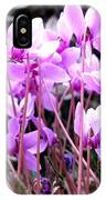 Wild Cyclamens IPhone Case