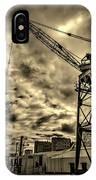 Port Crane At Sunset IPhone Case