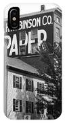 Portland, Maine - Ghost Mural Bw IPhone Case