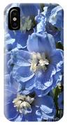Portrait Blue Delphinium 114 IPhone Case