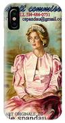 Portrait Commissions By Portrait Artist Carole Spandau IPhone Case