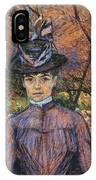 Portrait De Suzanne Valadon Madame Suzanne Valadon, Artiste Peintre 1885 IPhone Case