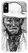 Portrait Of A Farmer IPhone Case