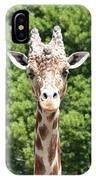 Portrait Of A Giraffe IPhone Case