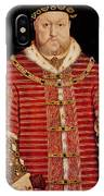 Portrait Of Henry Viii IPhone Case