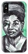 Portrait Of Maya Angelou IPhone Case