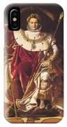 Portrait Of Napolan On The Imperial Throne 1806 IPhone Case