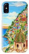 Positano Dreamy Sunset IPhone Case