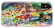 Amalfi Coast Positano Summer Fun Watercolor Painting IPhone X Case