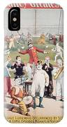 Poster Advertising The Barnum And Bailey Greatest Show On Earth IPhone Case