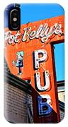 Pot Belly's Pub Sign IPhone Case