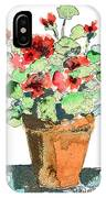 Potted Geraniums IPhone Case