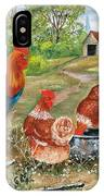 Poultry Peckin Pals IPhone Case