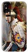 Pow Wow First Nation Dancer IPhone Case