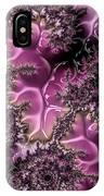 Powder Pink Black Gloss Fractal  IPhone Case