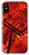 Power Line - Asphalt - Water Puddle Abstract Reflection 02 IPhone Case