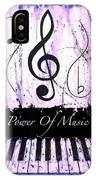 Power Of Music Purple IPhone Case