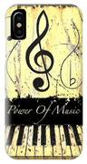 Power Of Music Yellow IPhone Case