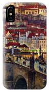 Prague Charles Bridge With The Prague Castle IPhone X Case