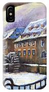 Prague Chertovka Winter 01 IPhone Case