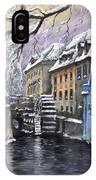 Prague Chertovka Winter IPhone Case