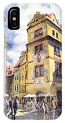 Prague Karlova Street Hotel U Zlate Studny IPhone Case