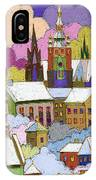 Prague Old Roofs Prague Castle Winter IPhone Case