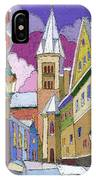 Prague Old Street Jilska Winter IPhone Case