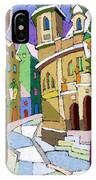 Prague Old Street Karlova Winter IPhone Case
