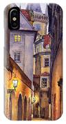 Prague Old Street  IPhone Case