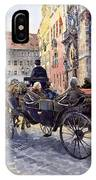 Prague Old Town Hall And Astronomical Clock IPhone Case