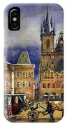 Prague Old Town Squere After Rain IPhone Case