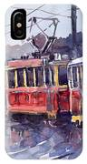 Prague Old Tram 01 IPhone Case
