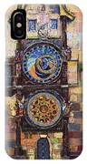 Prague The Horologue At Oldtownhall IPhone Case