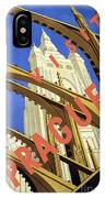 Prague Travel Poster IPhone Case