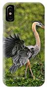 Prancing Heron IPhone Case
